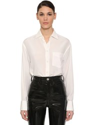 Maison Martin Margiela Silk Crepe De Chine Shirt Off White