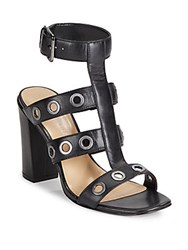 Saks Fifth Avenue Phaedra Grommeted High Heel Sandals Black
