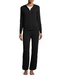 Neiman Marcus Cashmere Hoodie And Pant Lounge Set Plus Size Black