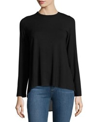 P. Luca High Low Long Sleeve Tunic Black