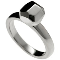 Delphine Leymarie Facets Solitaire Ring Silver