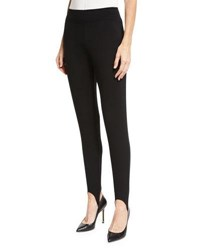 Neiman Marcus Jersey Stirrup Leggings Black