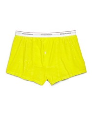 Dsquared Ink Splatter Boxers Green Yellow