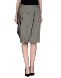 Malloni Skirts Knee Length Skirts Women Military Green