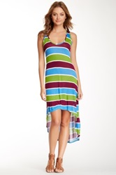 Voom By Joy Han Joyce Striped Hi Lo Dress Multi
