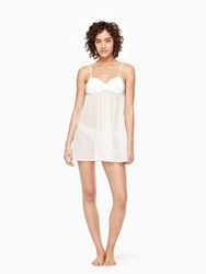 Kate Spade 2 Piece Dot Chemise Off White