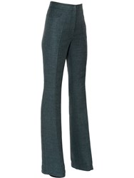 Akris Flared Double Linen Pants