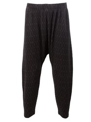 Homme Plisse Issey Miyake Loose Fit Cropped Trousers Black