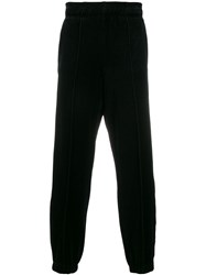 Laneus Stripe Trim Sweatpants Black