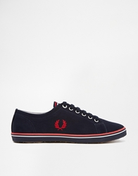 Fred Perry Kingston Twill Navy Trainers