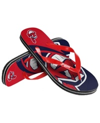 Forever Collectibles Cleveland Indians Thong Sandals Red