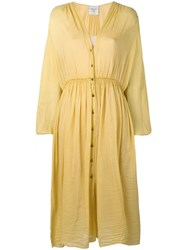 Forte Forte Buttoned Up Dress Yellow