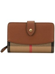 Burberry House Check Wallet Nude And Neutrals