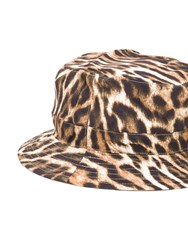 R 13 R13 Leopard Print Bucket Hat Brown