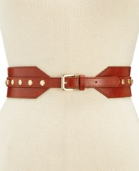 Inc International Concepts Stud Stretch Belt Created For Macy's Cognac