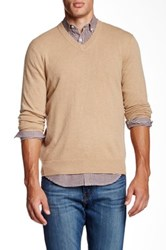 Qi Cashmere V Neck Sweater Beige