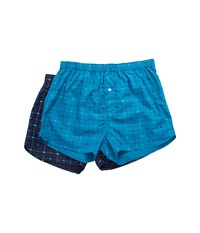 Lacoste Authentics 2 Pack Signature Print Woven Boxers Assorted 3 Men's Underwear Green
