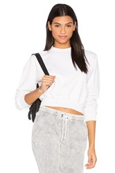 Cotton Citizen The Milan Cropped Sweatshirt White