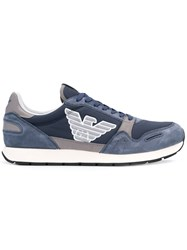 Emporio Armani Logo Low Top Sneakers Blue