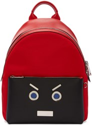 Fendi Red Faces Backpack