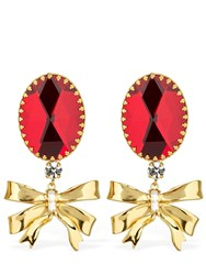 163169fd53 Alessandra Rich Ribbon Clip On Earrings Array 0X5813b48