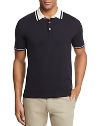 Bloomingdale's The Men's Store At Knit Tipped Regular Fit Polo Shirt 100 Exclusive Navy Ivory