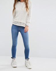 Hollister Supersoft Skinny Jeans With Ankle Zip Blue
