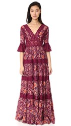 Free People Dulce Maria Maxi Dress Cranberry