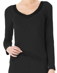 Calvin Klein Essentials V Neck Pj Top Black