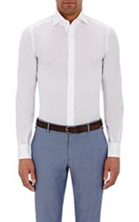 Isaia Men's Button Front Shirt White
