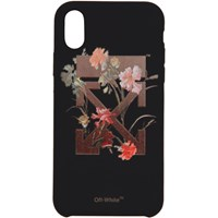 Off White Black Flowers Iphone X Case