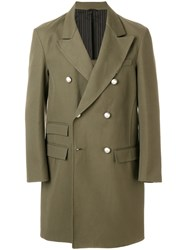 Ermanno Scervino Double Breasted Blazer Green