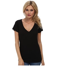 Lna S S Deep V Black Women's T Shirt