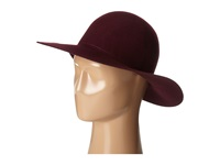 Hat Attack Devon Round Crown Large Brim Burgundy Caps