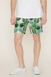 Forever 21 Palm Leaf Print Swim Trunks