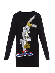Moschino Bugs Bunny Intarsia Knit Sweater Dress