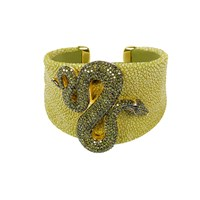 Latelita London Stingray Statement Snake Cuff Kiwi Gold