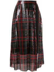Yang Li Sequinned Tartan Skirt 60