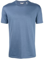 Gieves And Hawkes Plain T Shirt Wool Xl Blue