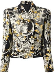 Gianni Versace Vintage Cropped Baroque Jacket Black