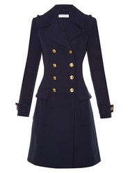 Altuzarra Baker Double Breasted Wool Coat Navy