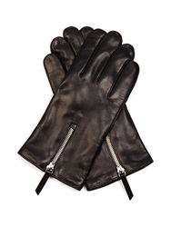 Want Les Essentiels Mozart Zip Detail Leather Gloves