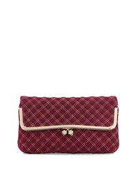 Elaine Turner Designs Elaine Turner Hazel Quilted Clutch Bag Fuchsia