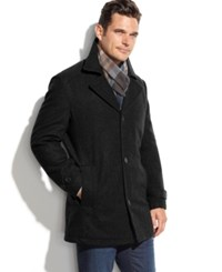 London Fog Big And Tall Classic Car Coat Black