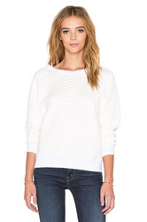 Mother Tipping The Scales Square Quilted Sweatshirt Ivory