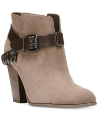 Carlos By Carlos Santana Macomb Buckled Booties Women's Shoes Taupe