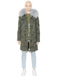 Mrandmrs Italy Embroidered Cotton Murmansky Fur Parka