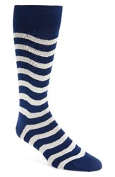 Paul Smith Men's Wobble Stripe Socks Navy