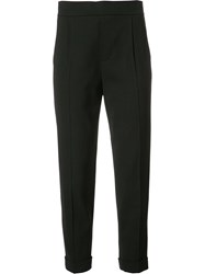 Vince Tailored Cropped Trousers Black