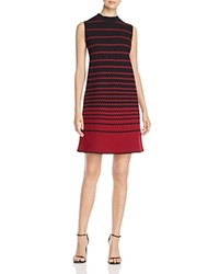 Nic Zoe Fall Fever Striped Mock Neck Dress Multi